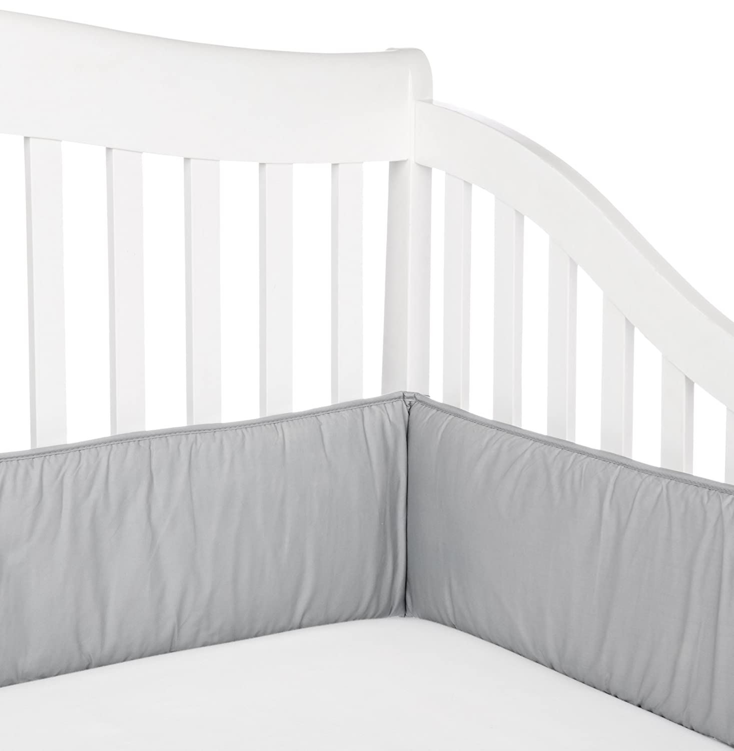 Crib bumpers babies r us - Amazon Com American Baby Company Cotton Percale Crib Bumper Gray Bedding Baby Baby