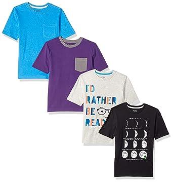 86de938405d Amazon.com  Amazon Brand - Spotted Zebra Boys  4-Pack Short-Sleeve T ...