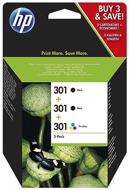 HP 301 Pack de 3 Cartouches d