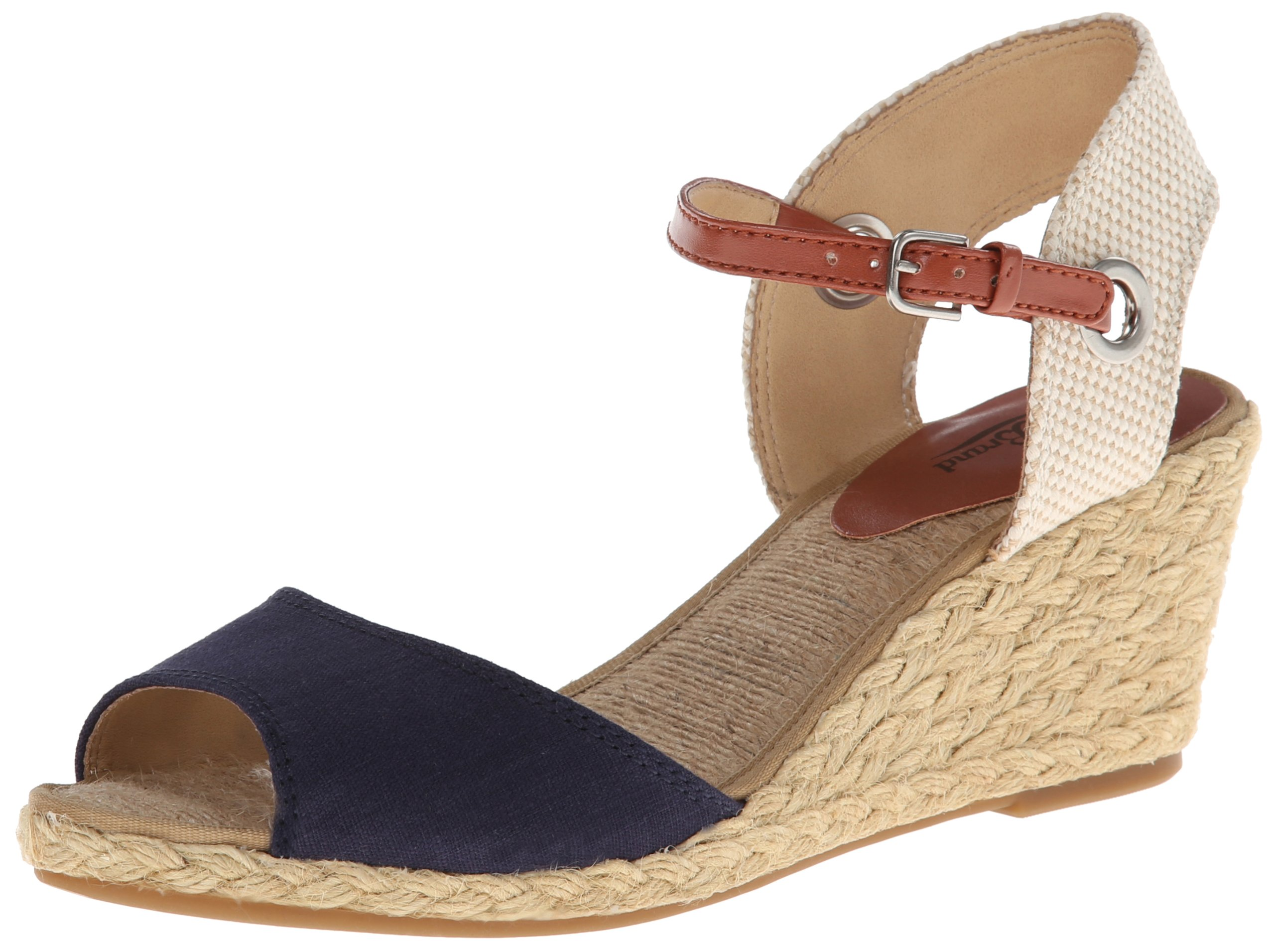 Lucky Brand Women's Kyndra Wedge Sandal,Moroccan Blue,6 M US