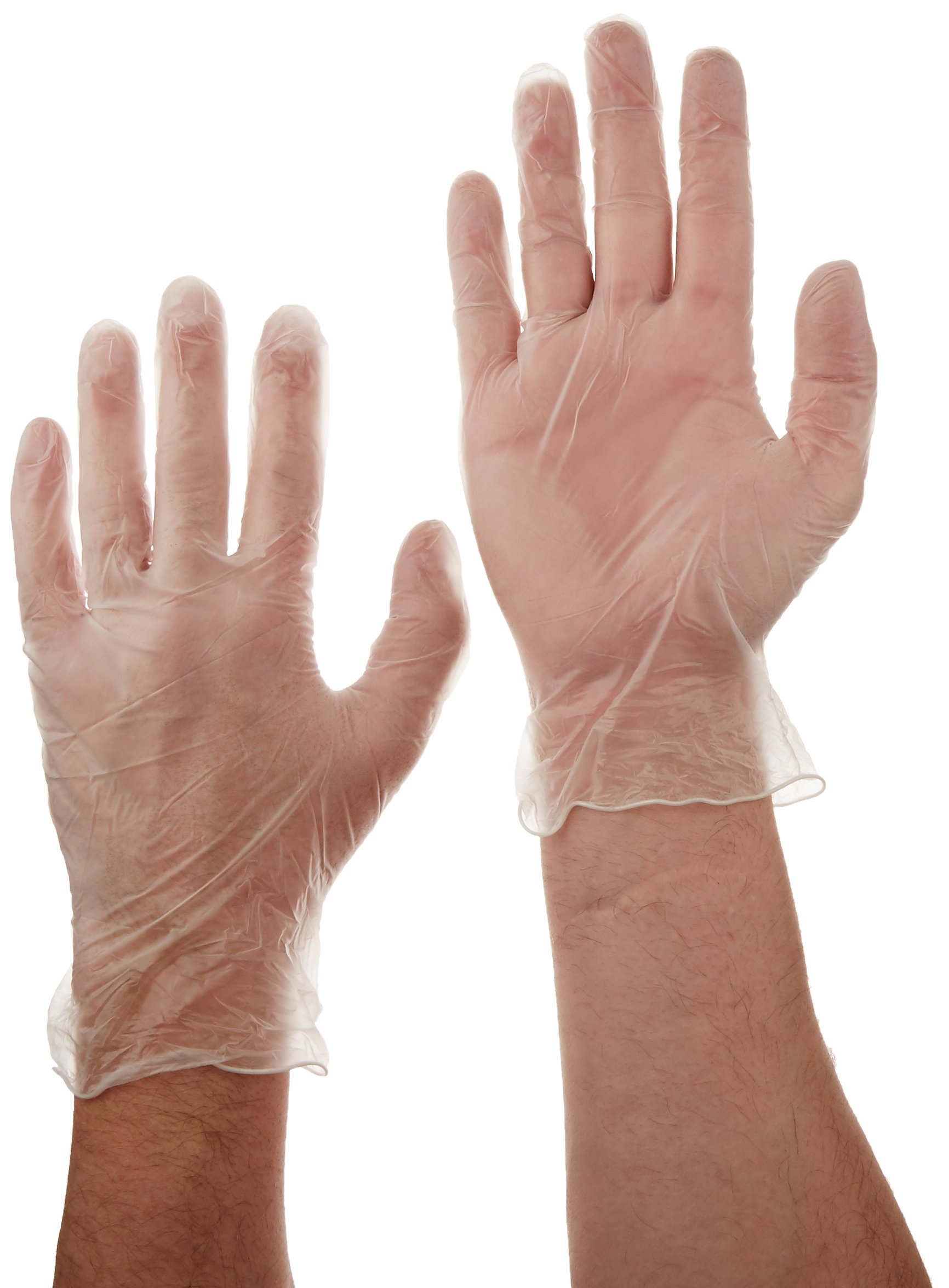 Tradex VLG5201 Ambitex Vinyl Powdered Free Multi-Purpose Gloves, Large, Clear (Pack of 1000)
