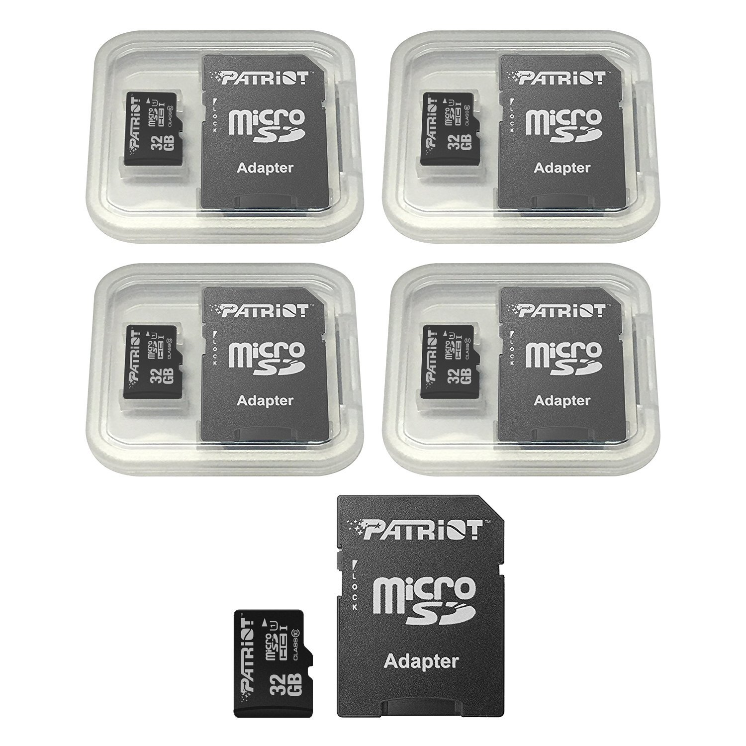Patriot LX Series 32GB Micro SDHC - Class 10 UHS-I - 5 Pack (PSF32GMCSDHC5PK) by Patriot (Image #2)