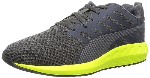 57137edd34eb Puma Men s Flare Mesh Asphalt and Safety Yellow Running Shoes - 10 UK India  (