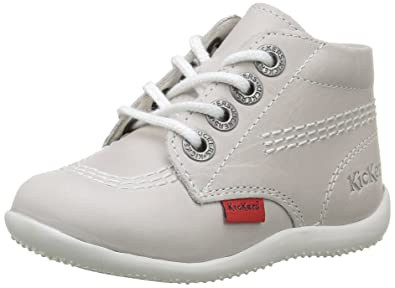 Kickers Billy, Chaussures Bébé marche mixte bébé, Gris (Blanc Pf), 20