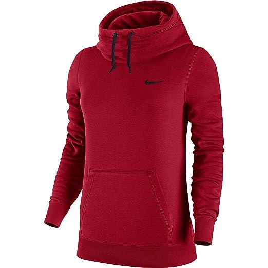 5b65e5952b Amazon.com  Nike Womens Club Funnel Hoodie  729297-687 (XS) Red ...