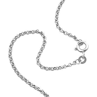 aa0dc821124e Erbskette 925 Sterlingsilber Weiss Rund Breite 3,00mm Unisex Silberkette  Halskette Collier NEU (70