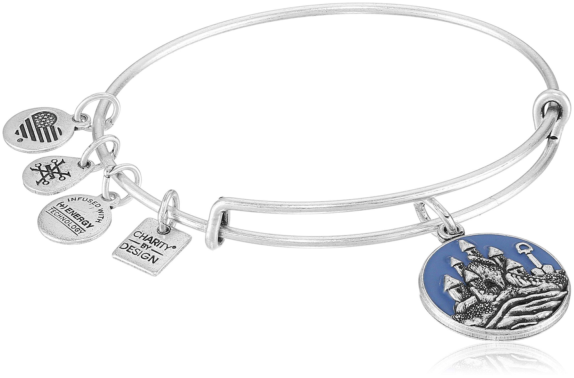 Alex and Ani Charity By Design, Sand Castle EWB Rafaelian Silver Bangle Bracelet by Alex and Ani (Image #1)