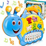 BeebeeRun Baby Musical Toys, Electronic Kids Musical Instruments Keyboard Piano Drum Set Learning Light Up Toy for Toddlers,
