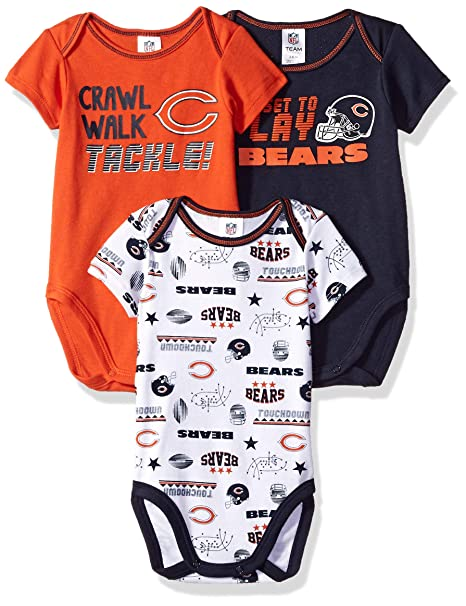 Amazon.com   NFL Chicago Bears Unisex-Baby 3-Pack Short Sleeve ... a3980e8ff