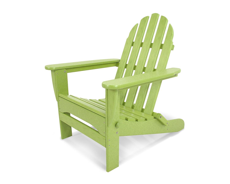 "POLYWOOD AD5030LI Classic Folding Adirondack Chair, 29W x 35D x 34H"", Lime"