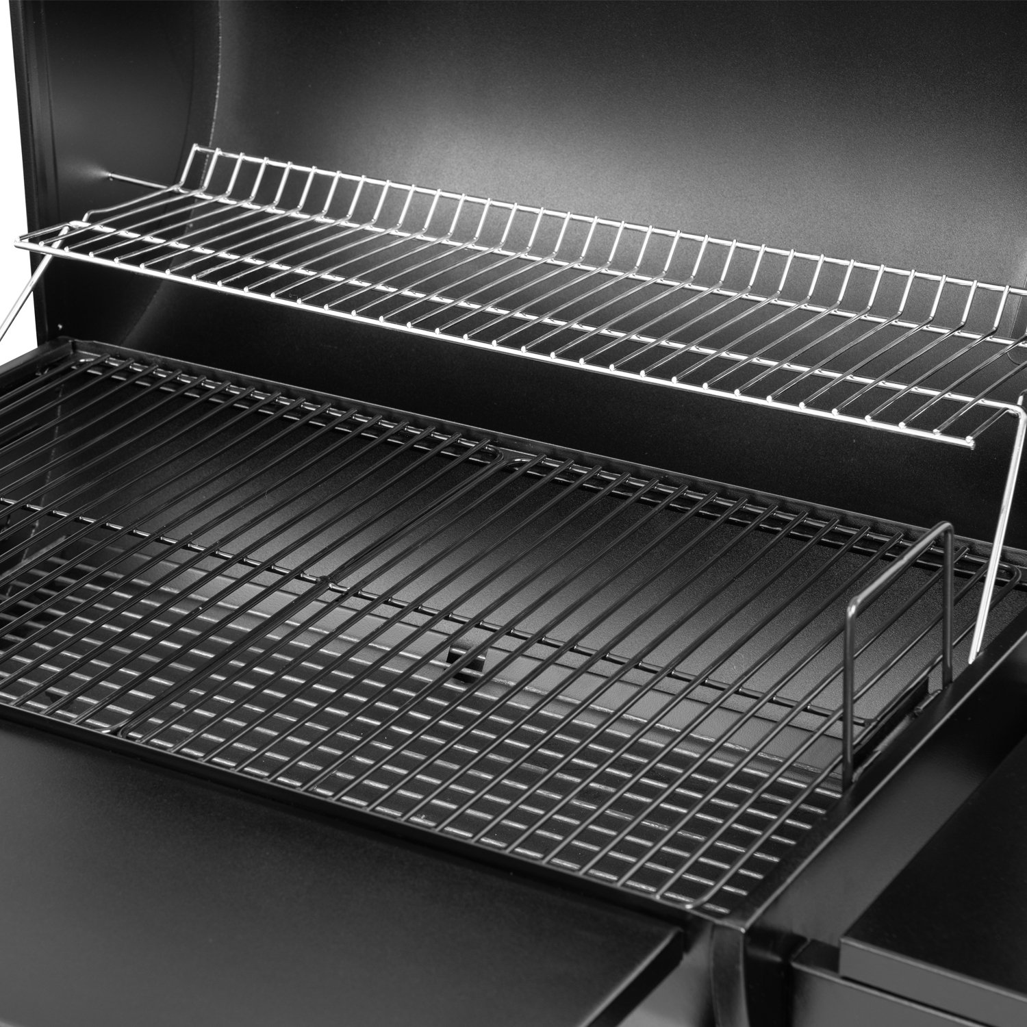 Royal Gourmet BBQ Charcoal Grill and Offset Smoker, 30'' L, 800 Square Inch, Outdoor for Camping, Black by Royal Gourmet (Image #4)