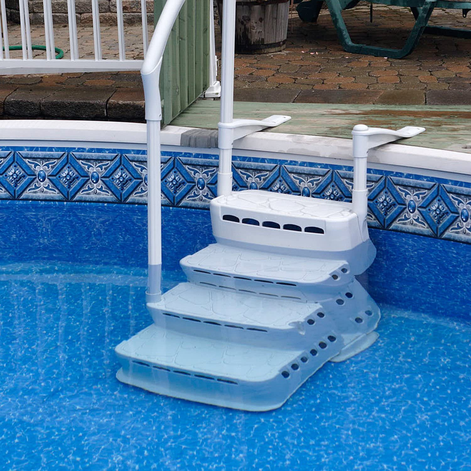Miganeo empotrable Escaleras 120 – 135 cm Pool Escalera para Piscina de hasta 159 kg Carga: Amazon.es: Jardín