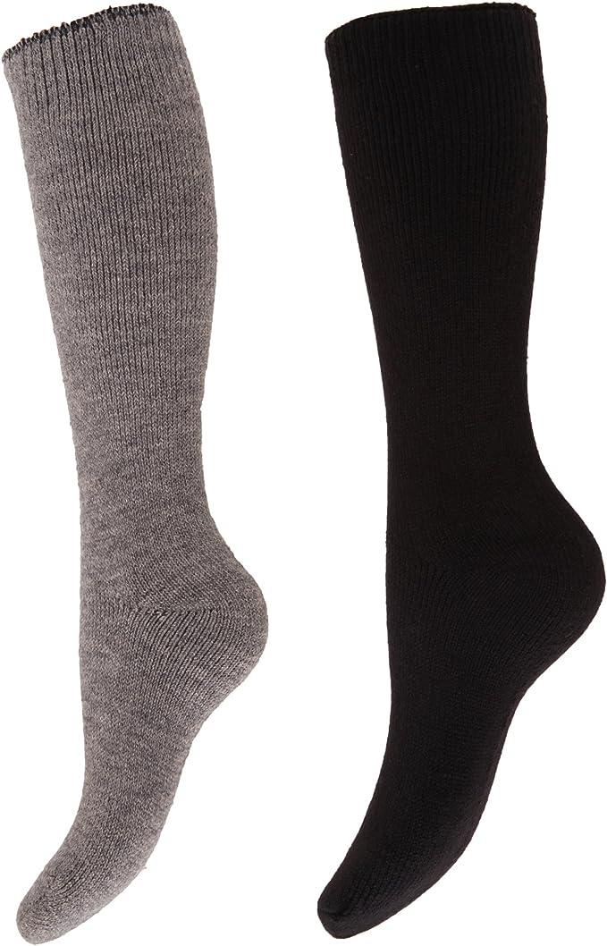 Imagen deFloso- Calcetines de invierno térmicos para botas de agua para mujer (2 pares)
