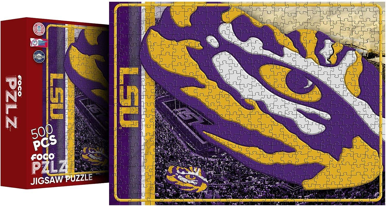 FOCO NCAA Big Logo 500 Piece Jigsaw PZLZ