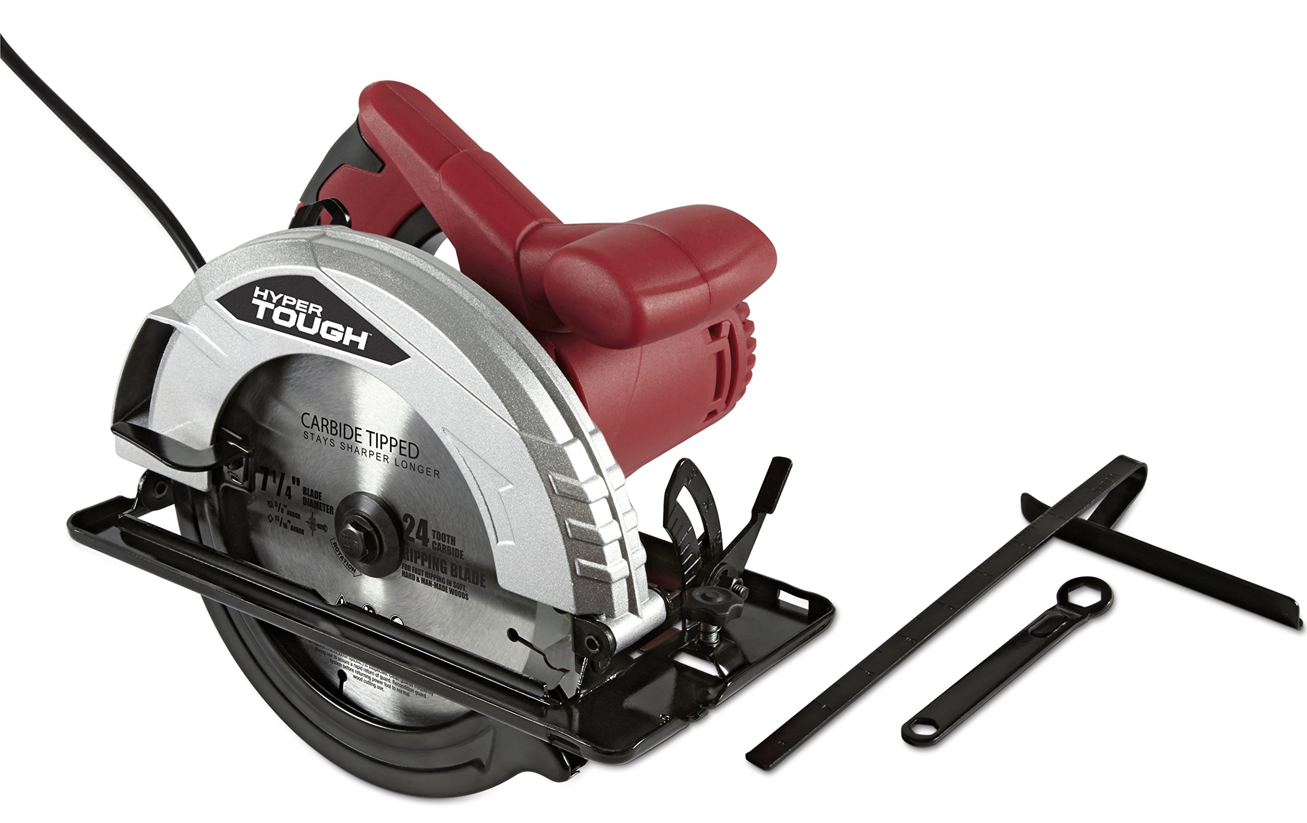 Hyper Tough AQ10019G 12 AMP 7-1/4 Inch Circular Saw With Steel Shoe