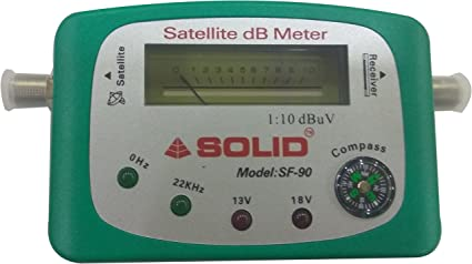 SOLID SF-90 Analogue Satellite signal finder dB Meter with compass