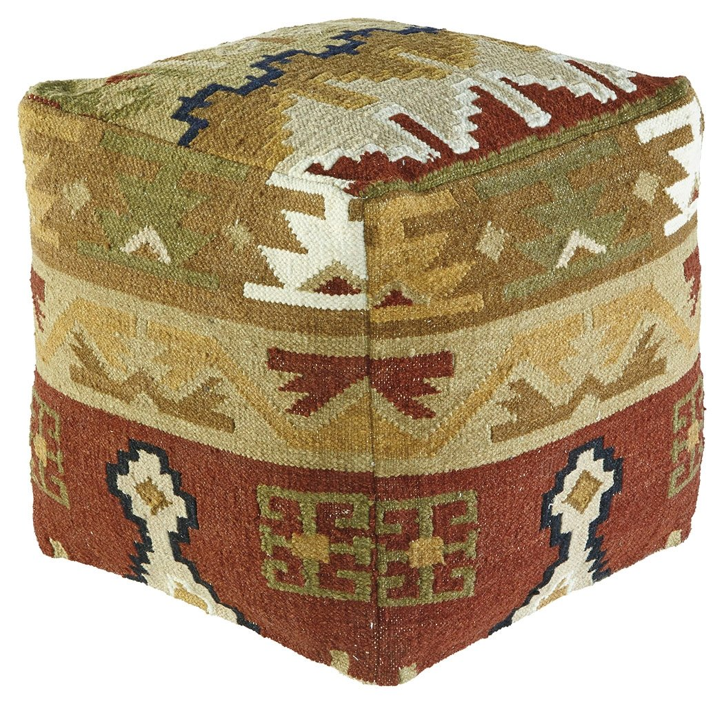 Signature Design by Ashley A1000206 Abner Pouf, Multicolor by Signature Design by Ashley