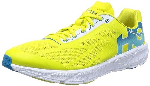 Hoka One One Tracer SS17 - Zapatillas de correr, Amarillo (Cítrico), 10 D(M) US: Amazon.es: Zapatos y complementos