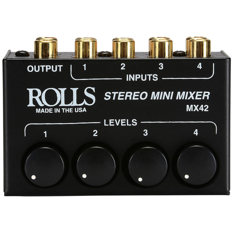 Rolls MX42ROLLS Stereo 4 Ch Mixer Rca Passive