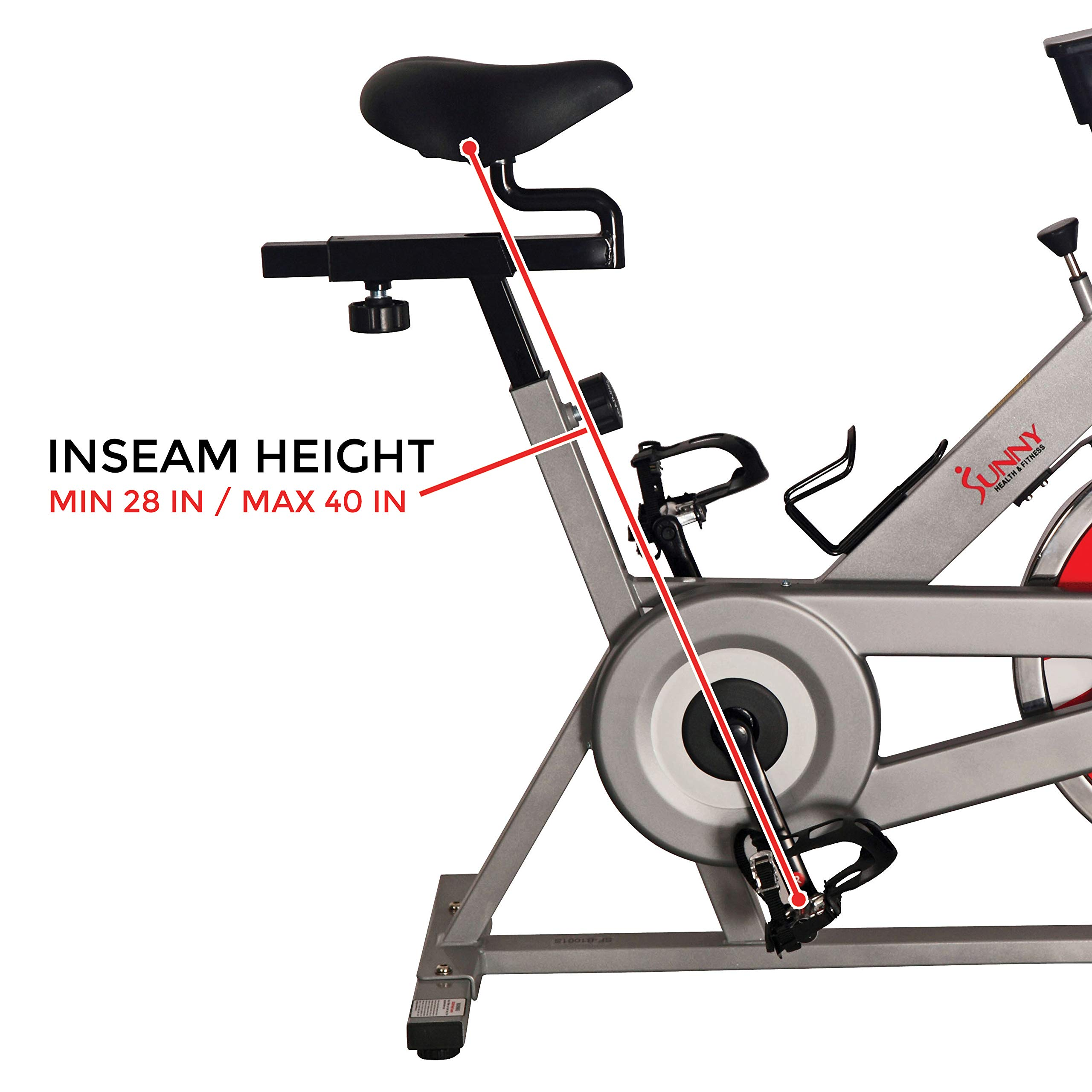 Sunny Health & Fitness SF-B1001S Indoor Cycling Bike, Silver by Sunny Health & Fitness (Image #12)