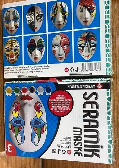 Seramik Maske Boyama Oyunu Hobi Ve Sanat Malzemeleri Amazoncomtr