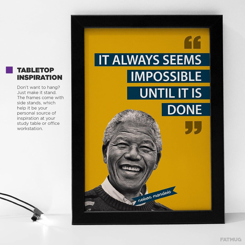 Fatmug It Seems Impossible - Nelson Mandela Motivational Quote ...
