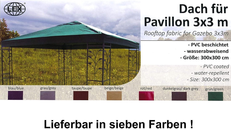 Carpa para techo 3 x 3 m en rojo techo Cenador (P: Amazon.es: Jardín