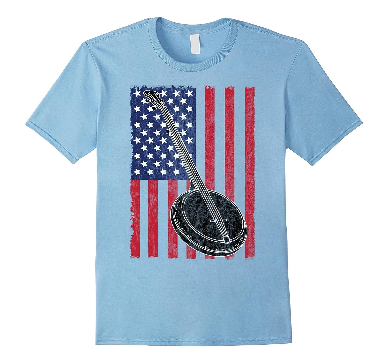 USA Patriotic Banjo T Shirt-PL