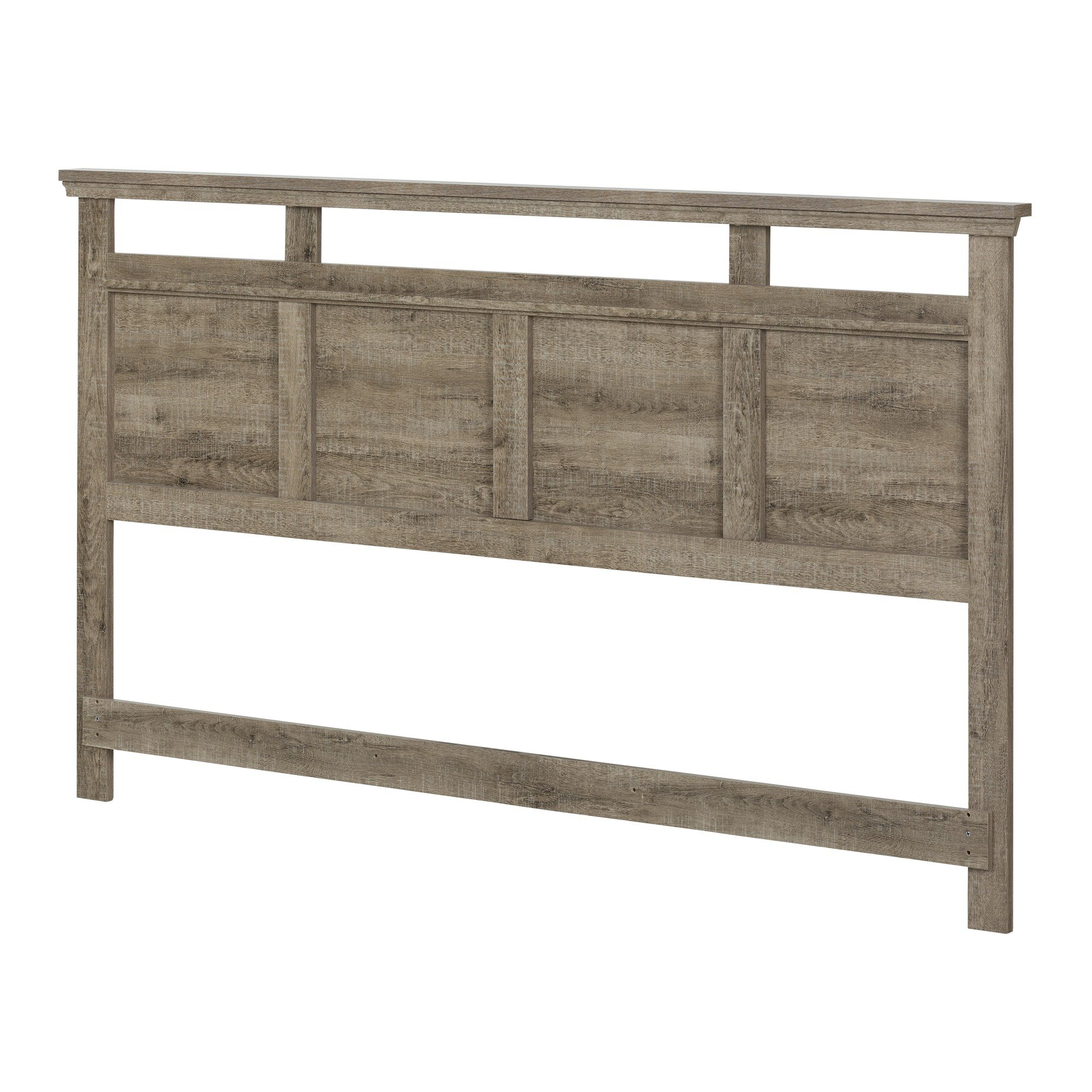 South Shore Versa Headboard, King 78-Inch, Weathered Oak