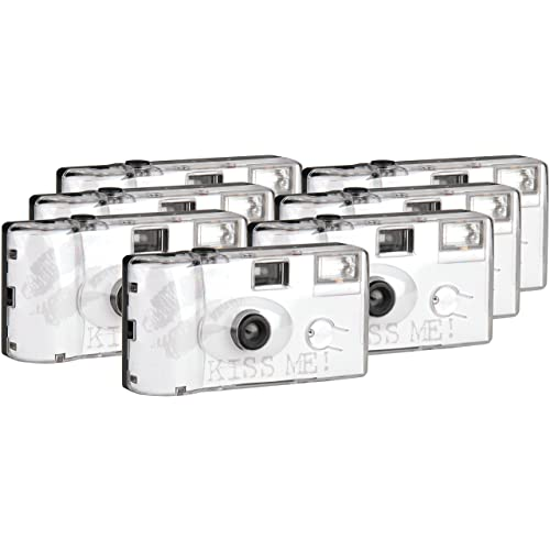 Kiss Me TopShot Disposable Camera/Wedding Camera 27Photos Flash 40027Flash (6+ 1pack)