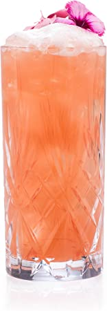 RCR Juego de 6 Vasos Altos de Cristal de la colección Melodia 350ml. Modelo: 25766020006, Glass