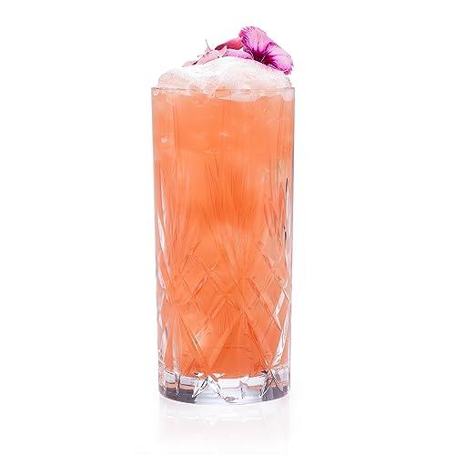 RCR 25766020006 Melodia Crystal Hi-Ball Cocktail Water Tumblers Glasses, 350 ml, Set of 6
