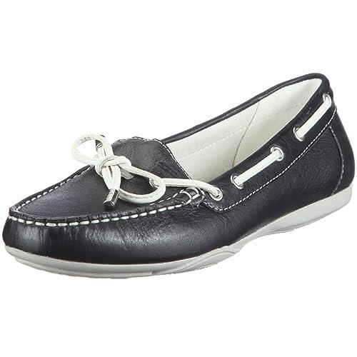 Geox Textil Donna Lt Snake Mocassino D11B2D43C4002 - Mocasines de cuero para mujer, color azul, talla 37: Amazon.es: Zapatos y complementos