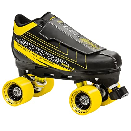 Roller Derby Rollschuhe Sting 5500 Mens Quad Skate - Patines en paralelo (hombre), color negro/amarillo, talla EU: 8: Amazon.es: Deportes y aire libre