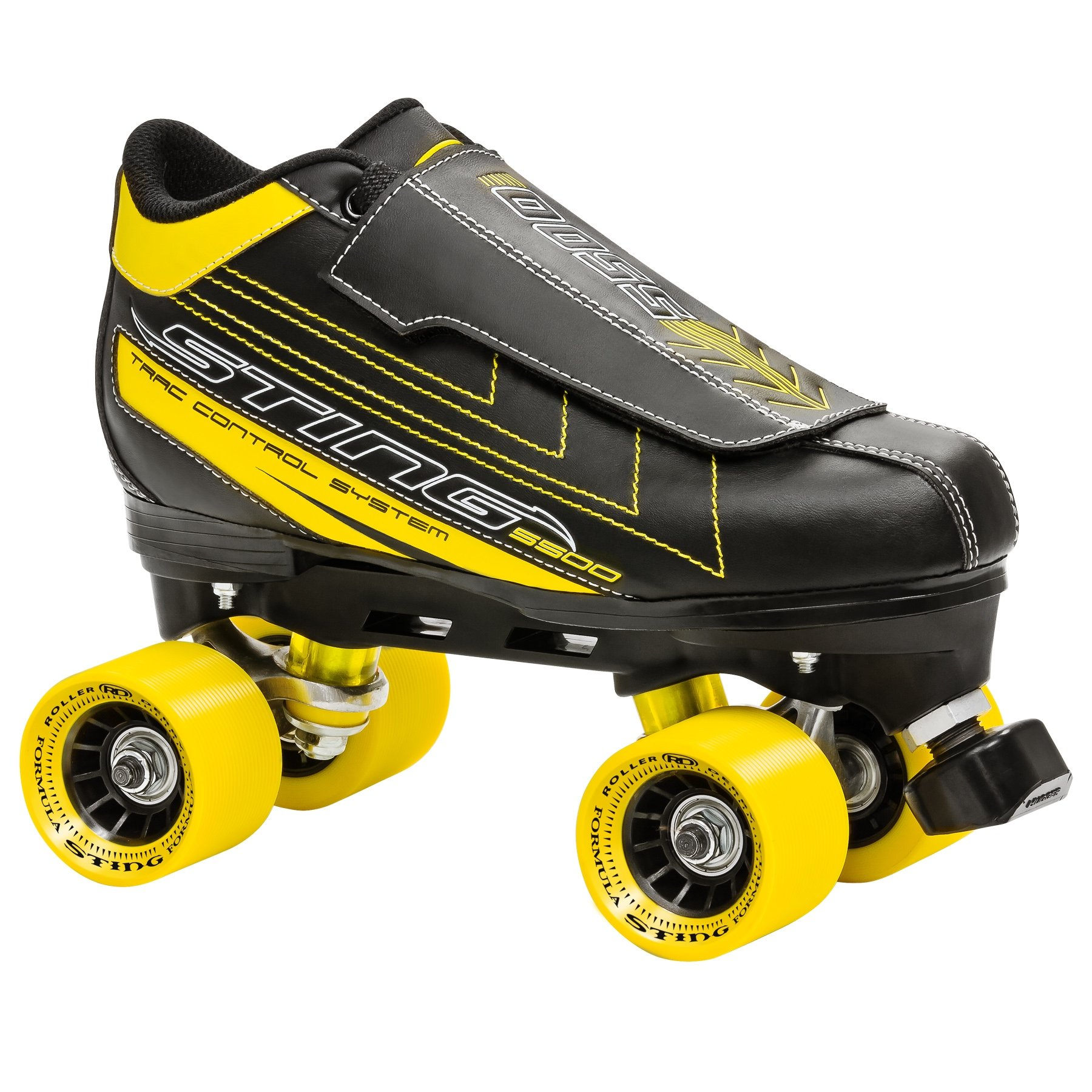 Roller Derby Men's Sting 5500 Quad Roller Skate, Black/Yellow, 7