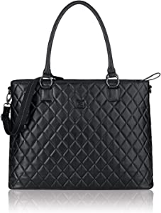 Solo Waldorf Tote with 15.6 Inch Laptop Compartment, Black