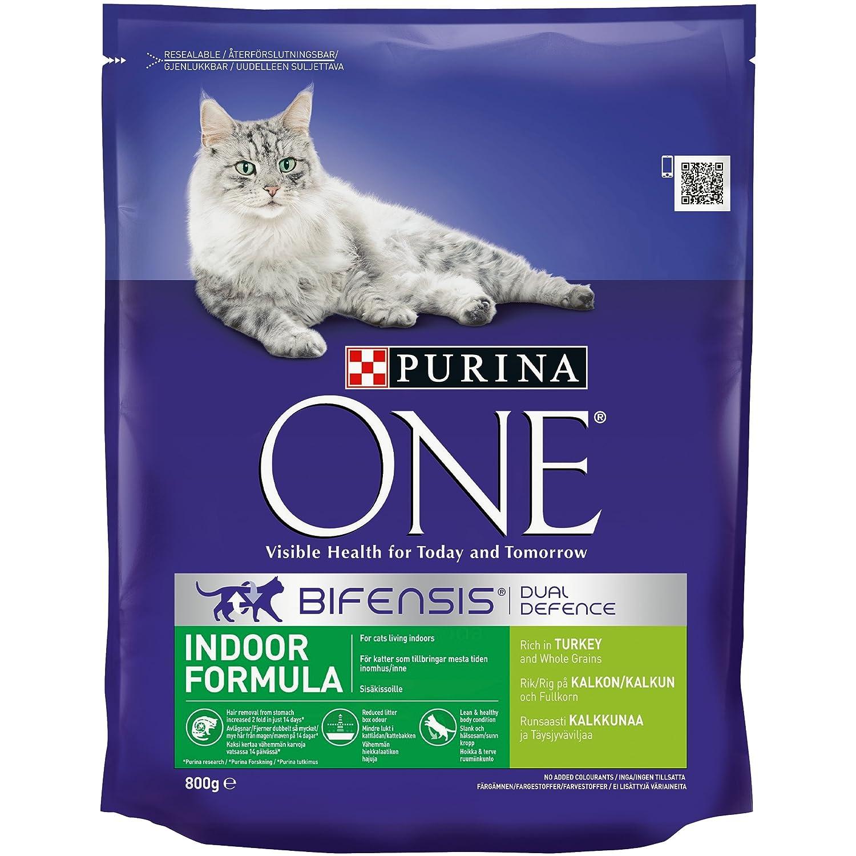 Purina e Indoor Cat Turkey and Wholegrain 800 g Pack of 4