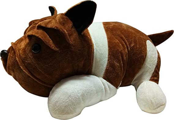 Giftlovers Cute Bull Dog Dark Brown Soft Toy 50 cm - Good Quality