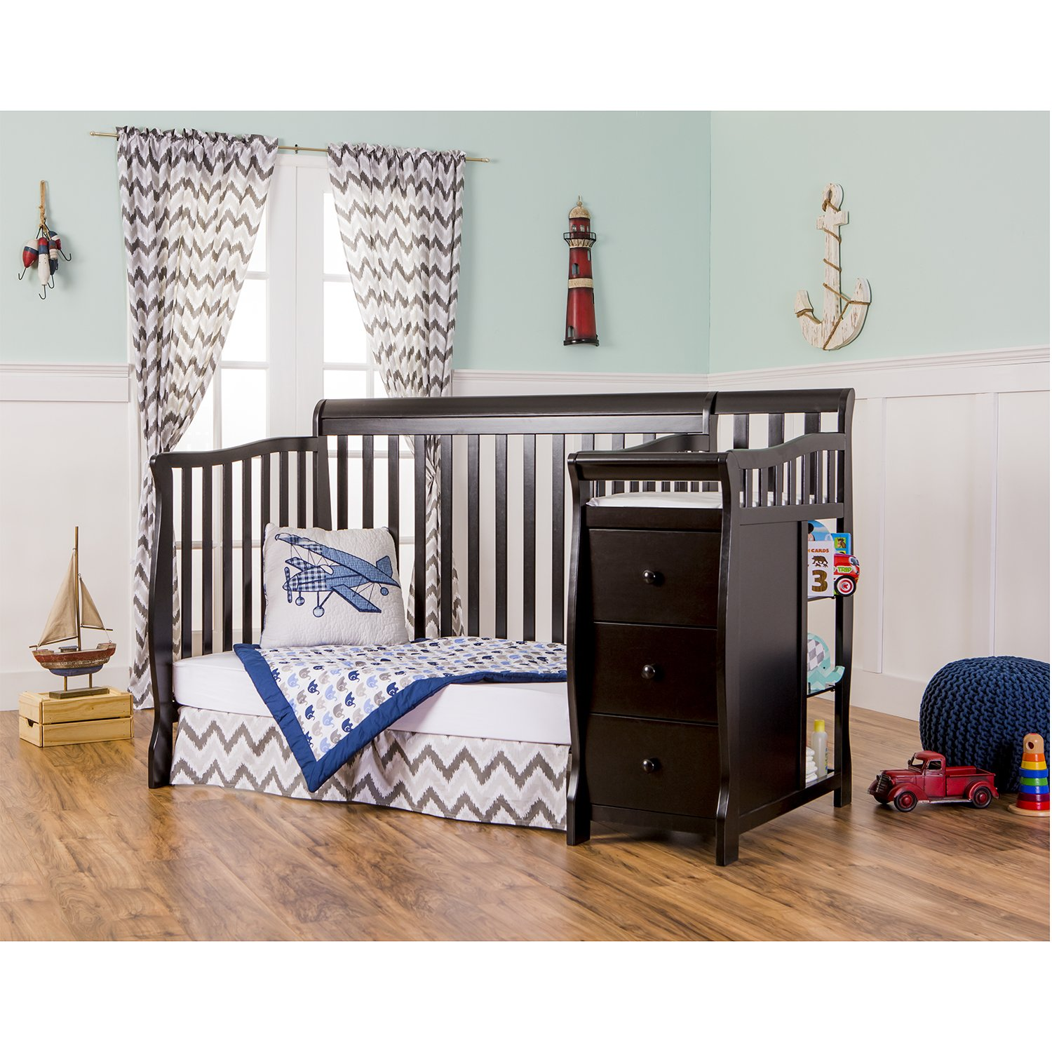 changer hayneedle calabria storkcraft changing crib convertible best with attached n baby gallery table cribs decoration combo