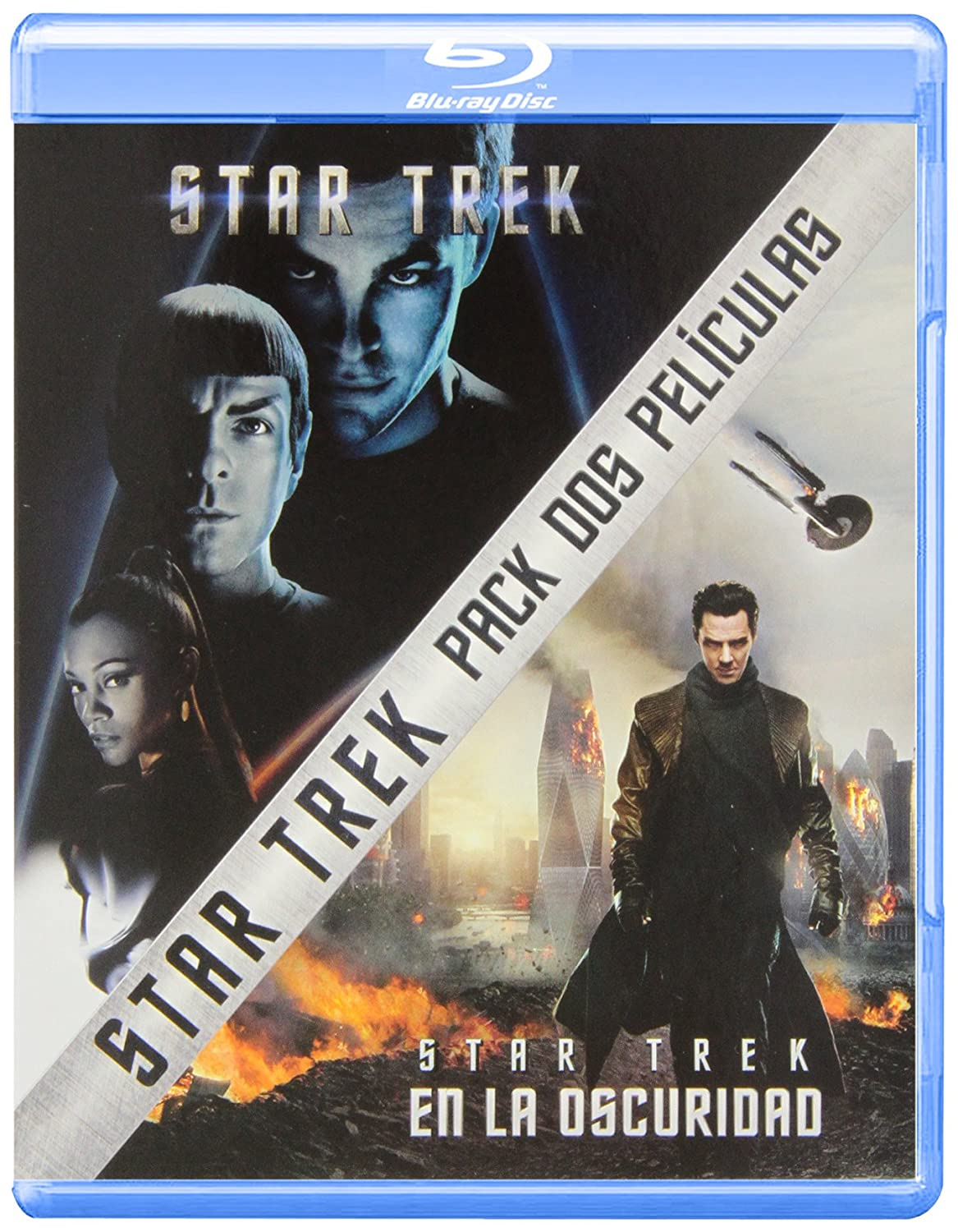 Pack: Star Trek + Star Trek: En La Oscuridad Blu-ray: Amazon.es: Chris Pine, Zachary Quinto, Zoe Saldana, Benedict Cumberbatch, Karl Urban, Simon Pegg, Alice Eve, Bruce Greenwood, Peter Weller, Anton Yelchin, John