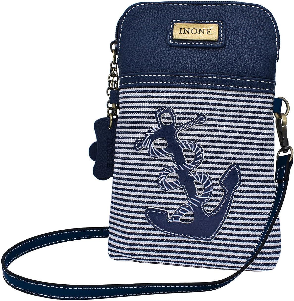 navy anchor bag grey bag anchor purse nautical card wallet anchor zipper pouch nautical accessory zipper pouch nautical coin purse