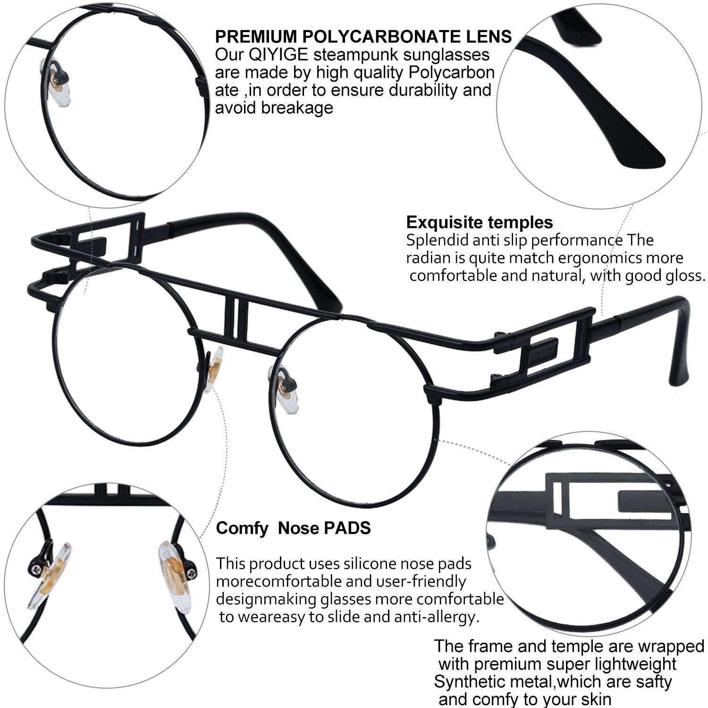 6c3115c390 Amazon Com Pro Acme Round Steampunk Sunglasses John Lennon Metal