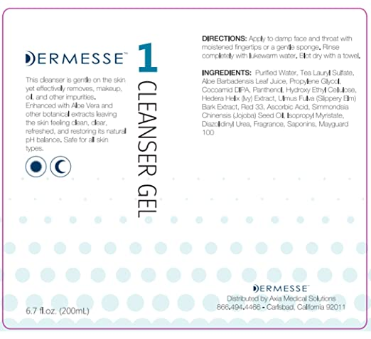 Amazon.com: Limpiador dermesse Gel 8oz (ideal para Normal a ...