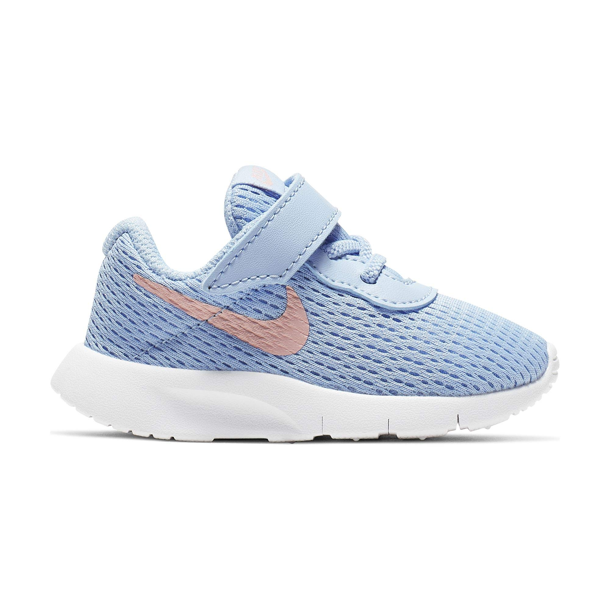 Nike Girl's Tanjun (TD) Toddler Shoe Psychic Blue/Bleached Coral/White Size 5 M US by Nike (Image #1)