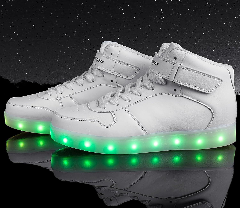 Shinmax Hi-Top LED Zapatos 7 Colores que Cambian con el Brillo desde solo 40,99€