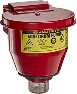 Printables One Drum How Many Quarts amazon com justrite 08202 steel small safety drum funnel with 08201 self closing cover 1 qt capacity