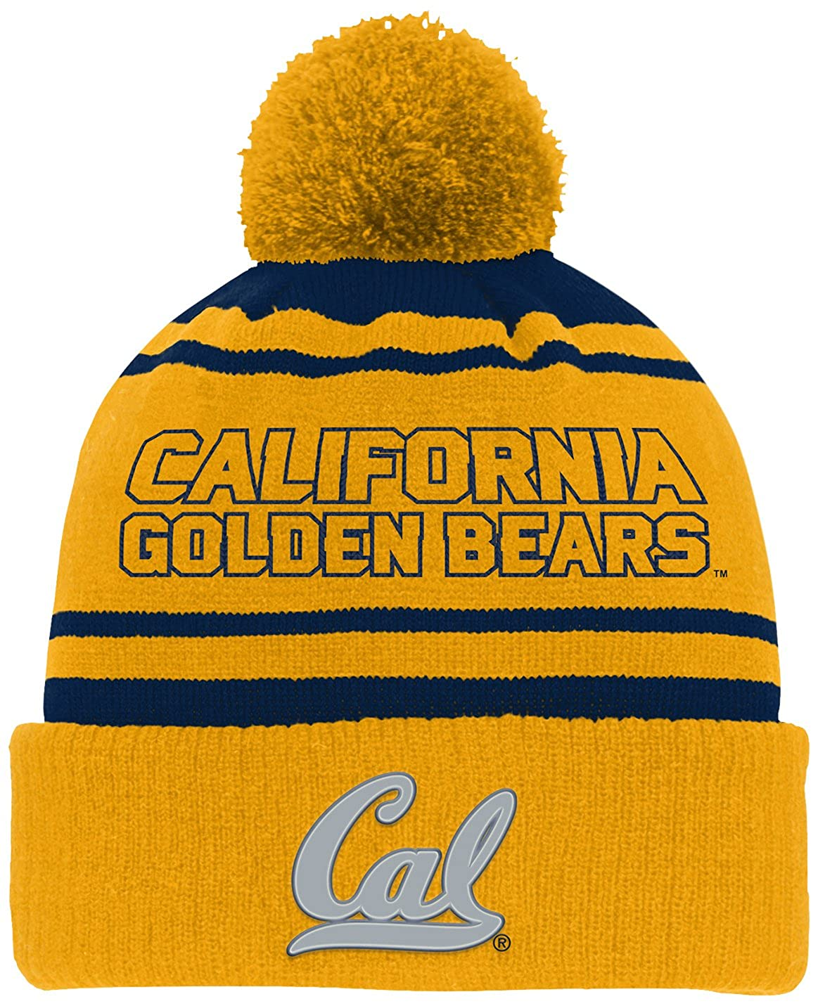 Youth One Size NCAA by Outerstuff NCAA California Golden Bears Youth Boys Reflective Cuff Knit Hat w// Pom Dark Navy