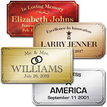 Engraved Name Plate Custom Personalized Plastic Sign Garden Sign Urn Plate