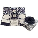 Crack of Dawn Crafts-Anniversary Handmade Explosion Gift Box-Navy & Silver