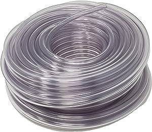 Rollerflex Food Grade Crystal Clear Vinyl Tubing, 1/4-Inch ID x 3/8-Inch OD, 100-FT